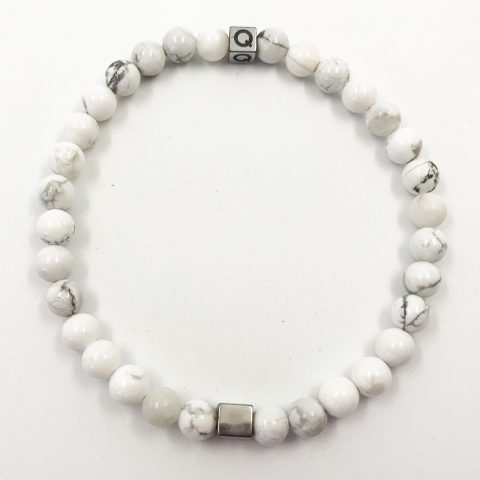 Balanced Soul Cracked White Beads Bracelet