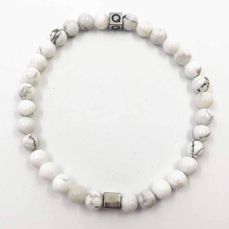 Balanced Soul Cracked White Beads Bracelet