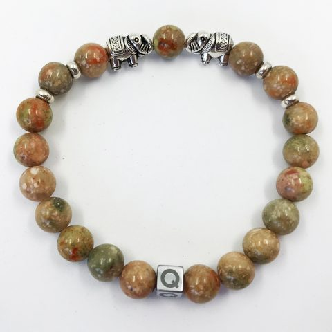 Pure Earth Elephant Imperial Jasper Beads Bracelet