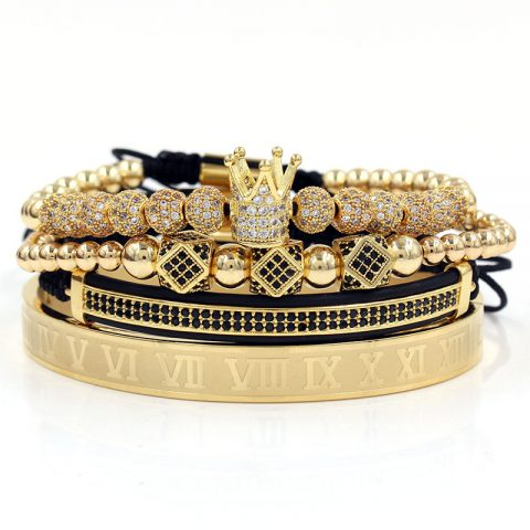 Royal Crown Bracelet Set (Gold)