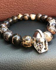 The Gladiator Bracelet Black Imperial Jasper Beads
