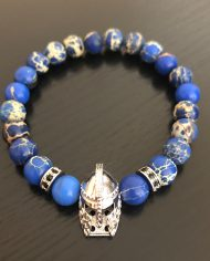 The Gladiator Bracelet Molten Blue Imperial Jasper Beads