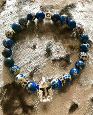 The Gladiator Bracelet Blue Imperial Jasper Beads