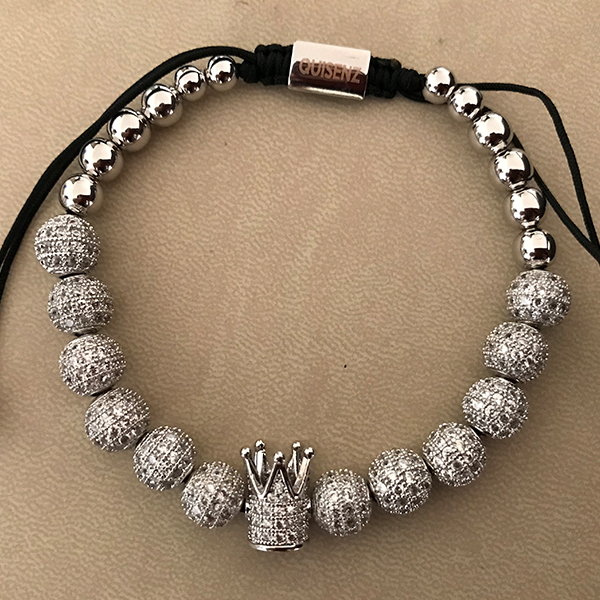 The Platinum Royal Crown Bracelet His Hers