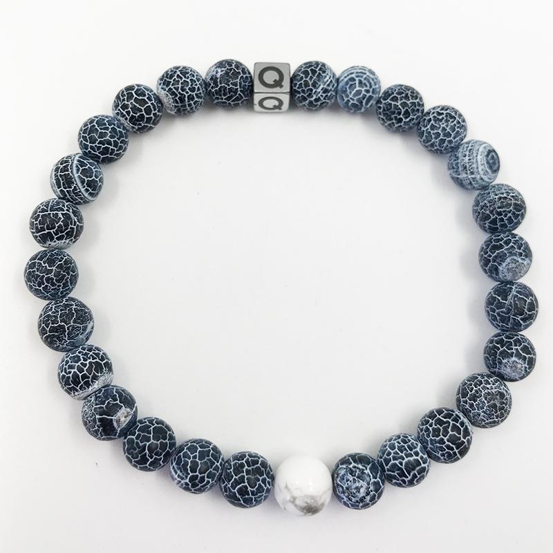 The Twin Natural Stone Friendship Bracelet Blue