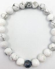 The Twin Natural Stone Friendship Bracelet White
